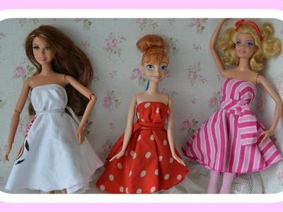 Como fazer roupinhas sem costura e sem cola quente para Barbie