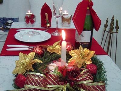 Decoração de Mesa de Natal | Má Patchwork