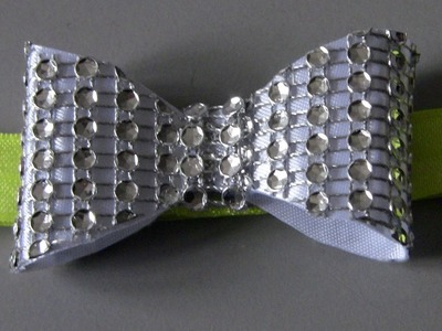 Laço Feito com Manta de strass - Rhinestone Plaid Tie - DIY