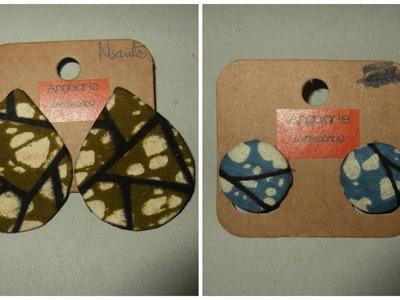 Tutorial de 2 pares de brincos afros angolarte by marciasantos