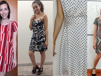 Vestido alcinha de corrente e botões Alana Santos Blogger