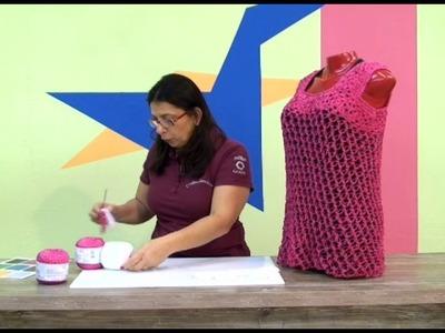 Blusa em Crochê com Cisne Glan. Cristina Amaduro.