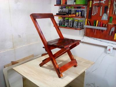 Cadeira dobrável de bar