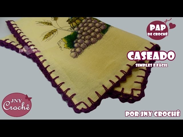 Caseado de crochê simples e fácil | Carreira única - JNY Crochê