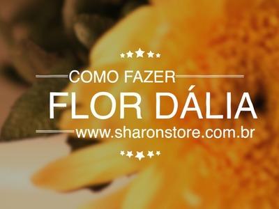 Como Fazer Flor Dália de Pérolas