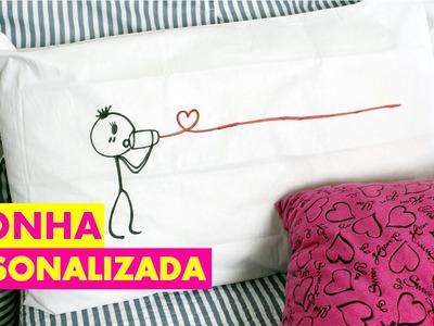 COMO FAZER Fronha personalizada ( Dia dos Namorados )- By Luana Viana