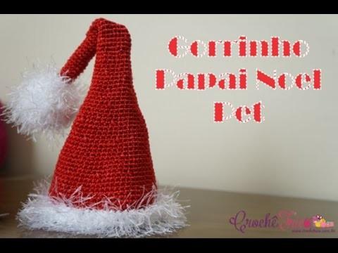 Crochê - Gorrinho Papai Noel Pet (P)