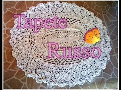 Crochê - Tapete Russo - 2ª Parte (2 de 4)