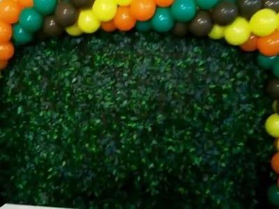 Diy arch ballon - faça vc mesmo arco de bolas 4 cores tema safári