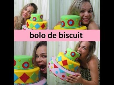 DIY:BOLO FAKE DE BISCUIT.