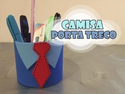 DIY.: Camisa c. Garrafa PET + Porta treco