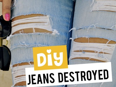Diy Como rasgar a calça jeans (destroyed)