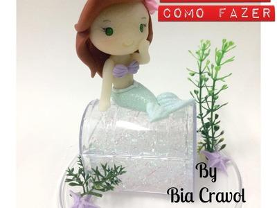 DIY - Pequena Sereia - Biscuit - porcelana fria - Bia Cravol