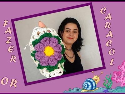 Flor Coral. Flor Caracol em crochê Passo a Passo