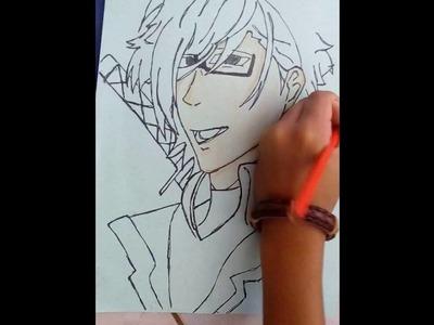 Pintando-Her craft versão anime