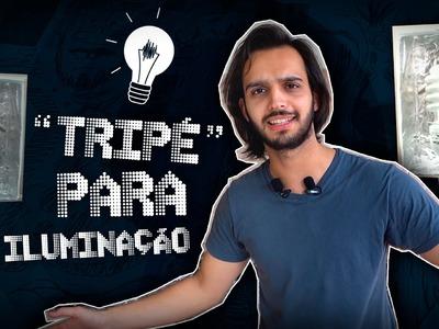 """Tripé"""" para iluminação - DIY COM PVC #01"""