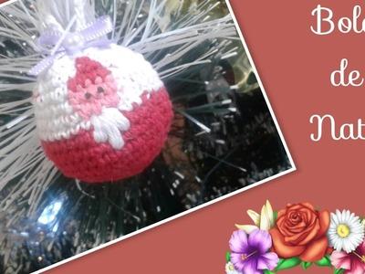 Versão destros:Bola de natal  em crochê # Elisa Crochê