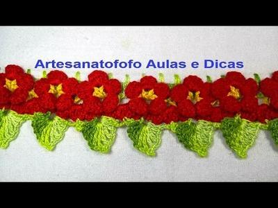 Bico florzinha em crochê - CROCHÊ 67  - PASSO A PASSO