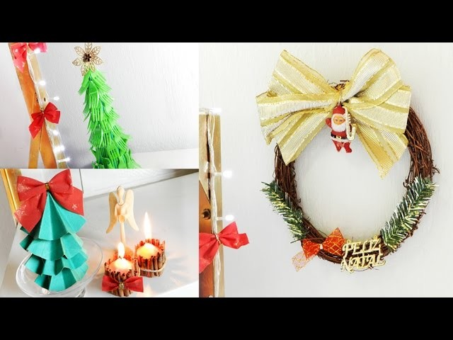 Diy 4 enfeites de natal baratos para decorar a casa no final do ano Decorar la casa barato