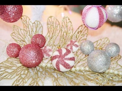 DIY- Árvore de Natal Disney - Bolinhas Minnie ou Mickey-Disney Christmas Tree