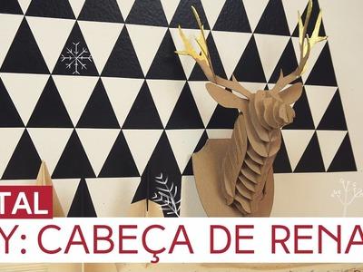 DIY: Cabeça de Rena | Natal by Aline Albino