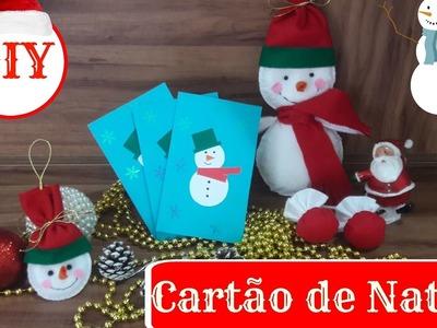 DIY - CARTÃO DE NATAL || ESPECIAL DE NATAL || Taisa Alves