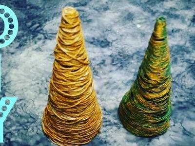 DIY | COMO FAZER ÁRVORE DE NATAL DE BARBANTE - Christmas tree