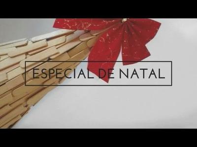 • DIY:ESPECIAL DE NATAL: ÁRVORE  FEITA DE PALITOS DE PICOLÉ