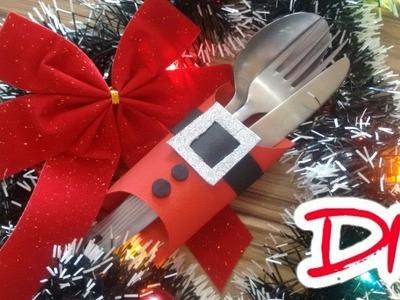 Diy Porta Talheres de Rolo de papel Higiênico |  Christmas special