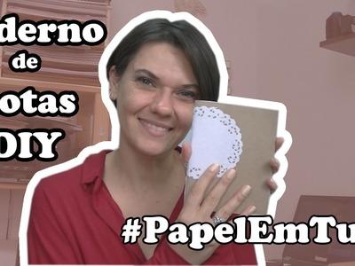 Caderneta para presente | DIY Costura Chain | #PapelEmTudo