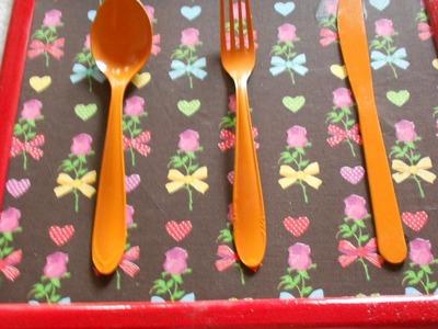 Decore a cozinha: QUADRO DE TALHERES #DIY