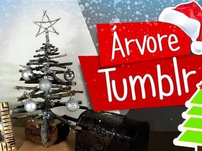 DIY - Árvore de Natal com Galhos Secos - Tumblr