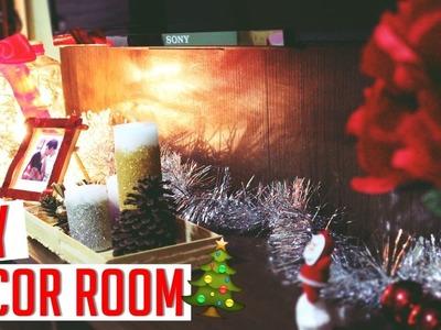 DIY DECOR ROOM NATALINO! velas, luminária, bandeja.  por Thayná Souza ♥