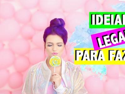 DIY: Doces Fake, Parede de Balões, Batom de Doces e +
