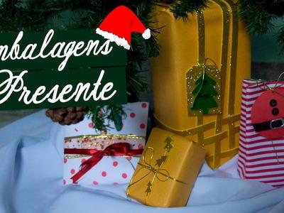 DIY - EMBALAGENS DE PRESENTES FÁCEIS E CRIATIVAS - Especial de Natal