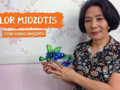 Flor Miozotis com Junko Miazato |  Vitrine do Artesanato na TV