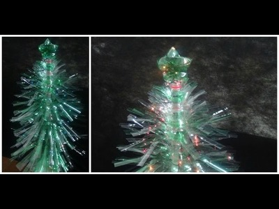 Árvore de Natal de Garrafa Pet - DIY