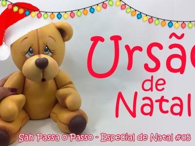 DIY - Como fazer um urso MUITO GRANDE em Biscuit  - Sah Passa o Passo Especial de natal #05