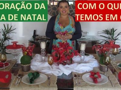 DIY - DECORAÇÃO DA MESA DE NATAL com o que já temos em casa