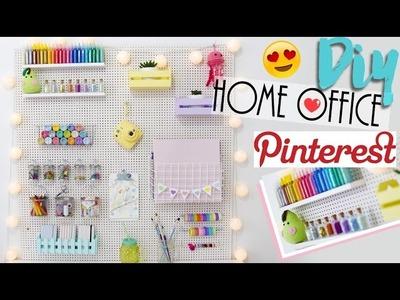 DIY: Decoração de Home Office de Pegboard! - Estilo Pinterest ♥