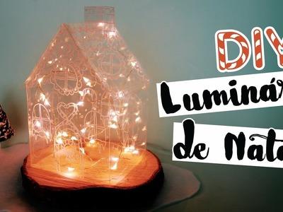 DIY: Decoração de Natal (Luminária Gingerbread House) | Faça seu Natal DIY