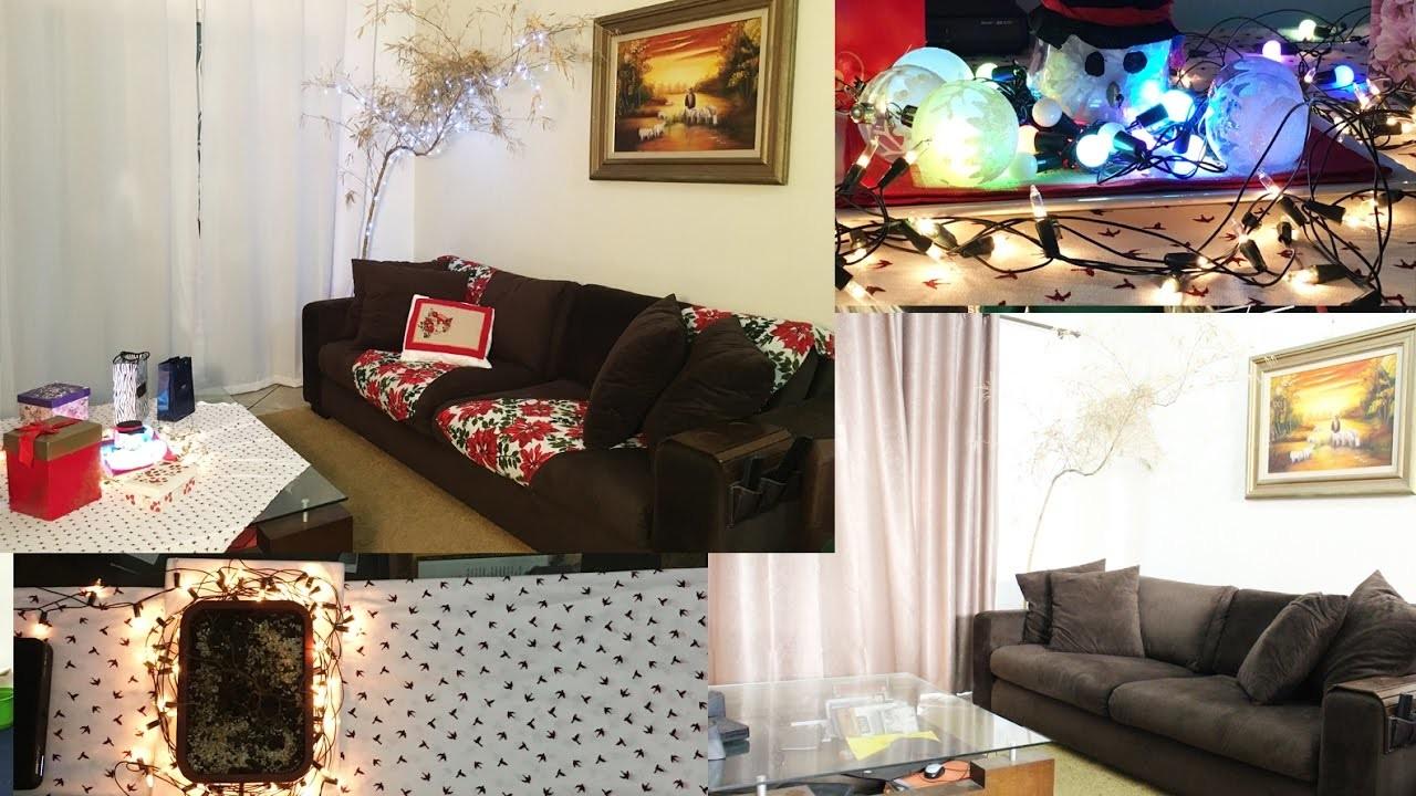 Diy - Decorando a sala para o Natal- 2016. Thabatta Campos