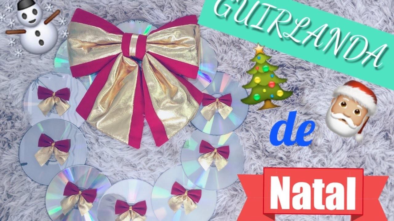 DIY: Guirlanda de Natal com cds