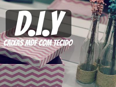 PREPARATIVOS PARA O ANIVERSÁRIO - D.I.Y - CAIXA DE MDF COM TECIDO #JARDIMDAMELISSAFAZ1