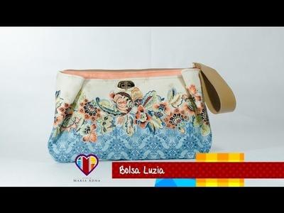 Bolsa carteira de tecido com passo a passo Luzia - Maria Adna Ateliê - Cursos e aulas de bolsas