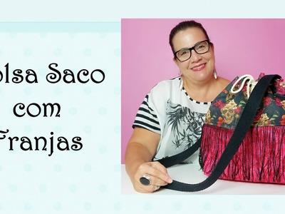 Bolsa Saco com Franjas
