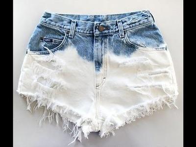 Como desbotar shorts jeans