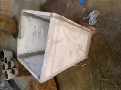 Como Faço Meus Vasos Grandes de Cimento