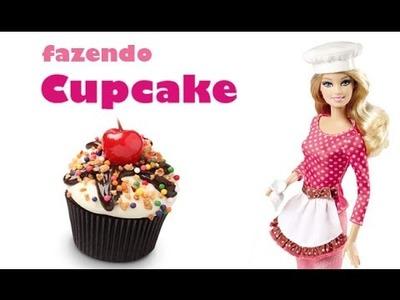 COMO FAZER CUPCAKE PARA BONECAS - Barbie, Monster High, EAH, etc