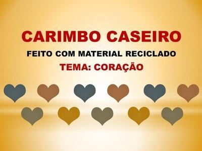 DIY - Carimbo caseiro com material reciclado
